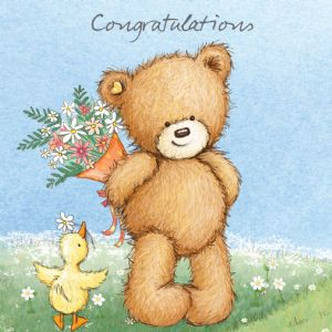 Congratulations Bear for Exams, New Job, New Baby, New Home, Well Done